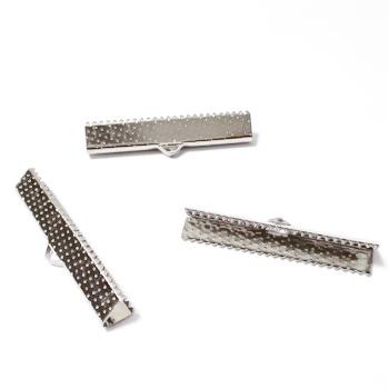 Capat prindere panglica, argintiu inchis, 35x8x5mm 1 buc