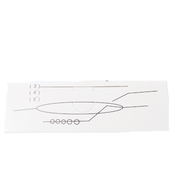Ac flexibil pt.insirat margele, otel inoxidabil, lungime 12.5cm grosime 0.3mm 1 buc