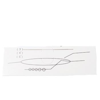 Ac flexibil pt.insirat margele, otel inoxidabil, lungime 5.7cm grosime 0.3mm 1 buc