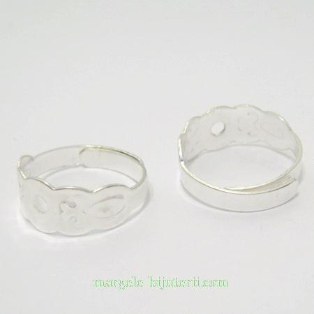 Baza inel ajustabila placata cu argint 1 buc