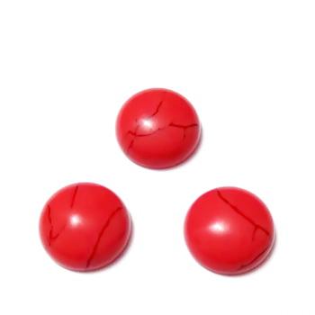 Cabochon turcoaz sintetic, colorat rosu, 12x5mm 1 buc
