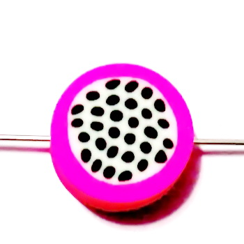 Margele polymer, pitaya, 10x10x4mm 1 buc