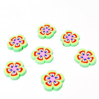 Cabochon polymer, floare vernil 9~10x1~2mm 1 buc