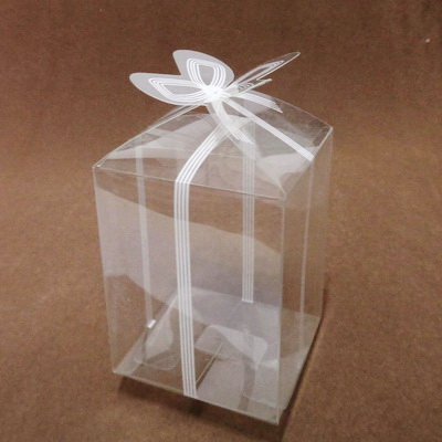 Cutie acetofan transparenta, 6.5x6.5x8 cm 1 buc