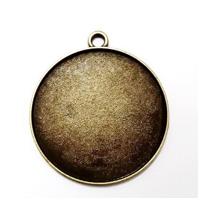 Baza cabochon, bronz, pandantiv 42x37mm, interior 35mm 1 buc