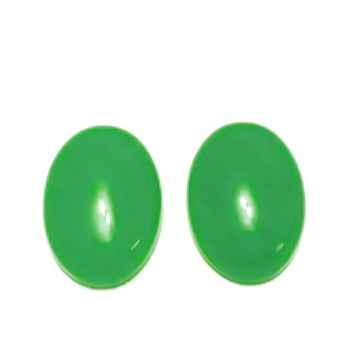 Cabochon jad verde, 18x13mm 1 buc