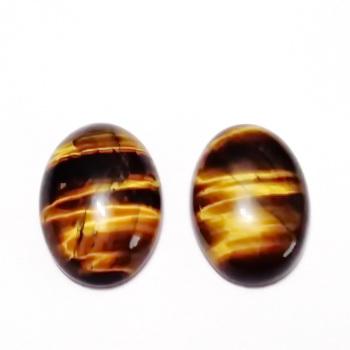 Cabochon ochi de tigru, 18x13mm 1 buc