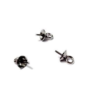 Accesoriu pandantiv/margele semigaurite de 4mm, otel inoxidabil 304 1 buc