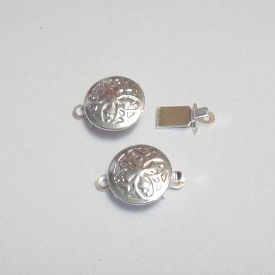 Inchizatoare decorativa placata cu argint 1.46 cm 1 buc