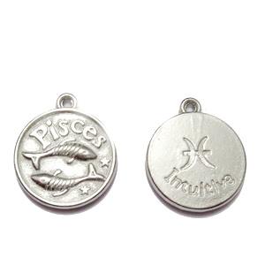 Pandantiv argintiu inchis zodiac, PESTI, 20x17x3mm  1 buc