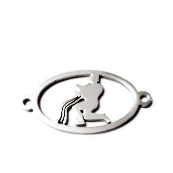 Conector/link otel inoxidabil zodiac, VARSATOR, 24x12mm  1 buc