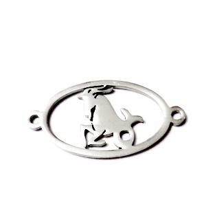 Conector/link otel inoxidabil zodiac, CAPRICORN, 24x12mm   1 buc