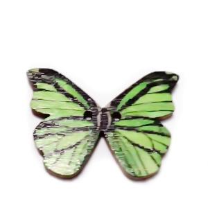 Nasturi lemn natur, fluturas multicolor, 20x28x2mm, model 2 1 buc