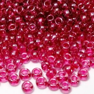 Margele TOHO, rotunde  11/0 : Inside-Color Lt Amethyst/Fuchsia-Lined 20 g