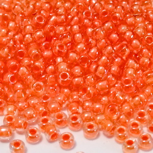 Margele TOHO, rotunde  11/0 : Inside-Color Crystal/Salmon-Lined 20 g