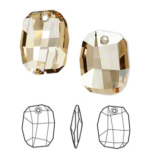 Swarovski Elements, Graphic 6685 - Golden Shadow, 19mm 1 buc