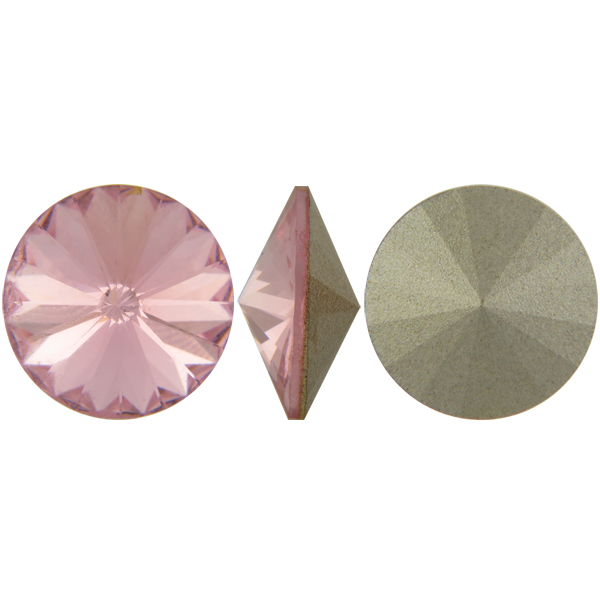 Swarovski Elements, Rivoli 1122 - Light Rose, 10mm 1 buc