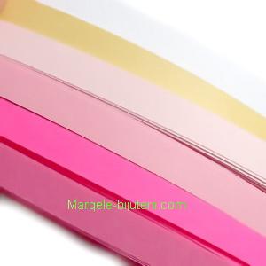 Hartie Quilling roz 53x0.5cm, 120 fasii/set 1 buc