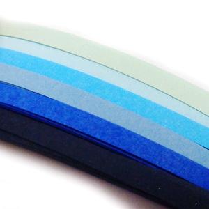 Hartie Quilling albastra 39x0.5cm, 120 fasii/set 1 buc