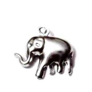 Pandantiv otel inoxidabil 304, elefant, 14x15x5mm 1 buc