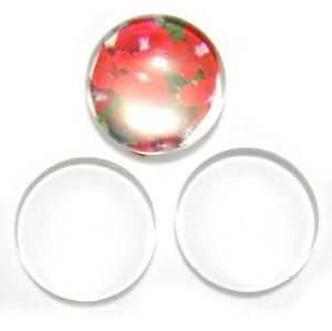 Cabochon sticla transparenta, 30x6~7mm 1 buc
