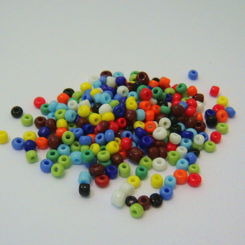 Margele nisip mate multicolore 3mm 20 g