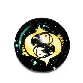 Cabochon sticla zodiac, PESTI, 12x4mm  1 buc