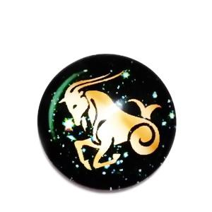 Cabochon sticla zodiac, CAPRICORN, 12x4mm  1 buc
