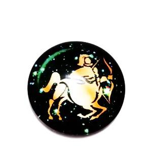 Cabochon sticla zodiac, SAGETATOR, 12x4mm  1 buc