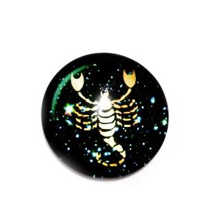 Cabochon sticla zodiac, SCORPION, 12x4mm  1 buc