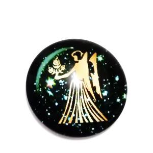 Cabochon sticla zodiac, FECIOARA, 12x4mm  1 buc