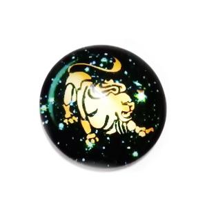 Cabochon sticla zodiac, LEU, 12x4mm  1 buc