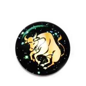 Cabochon sticla zodiac, TAUR, 12x4mm  1 buc