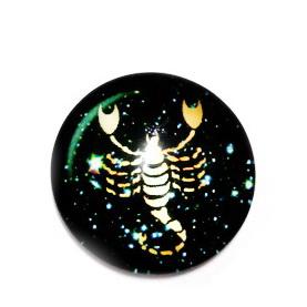 Cabochon sticla zodiac, SCORPION, 14x4mm  1 buc
