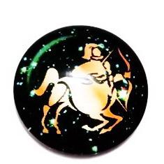 Cabochon sticla zodiac, SAGETATOR, 25x6mm  1 buc