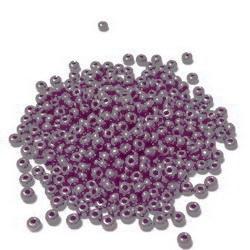 Margele nisip, Rocaille Preciosa 10/0-2.3mm, perlate, mov inchis 1 buc