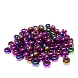 Margele nisip, Rocaille Preciosa 6/0-4mm, violet, efect AB 20 g