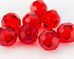 Swarovski Elements, Faceted Round 5000-Light Siam 4mm 1 buc