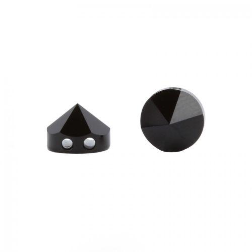 Swarovski Elements, Round Spike Bead 5062, Jet 7.5mm 1 buc