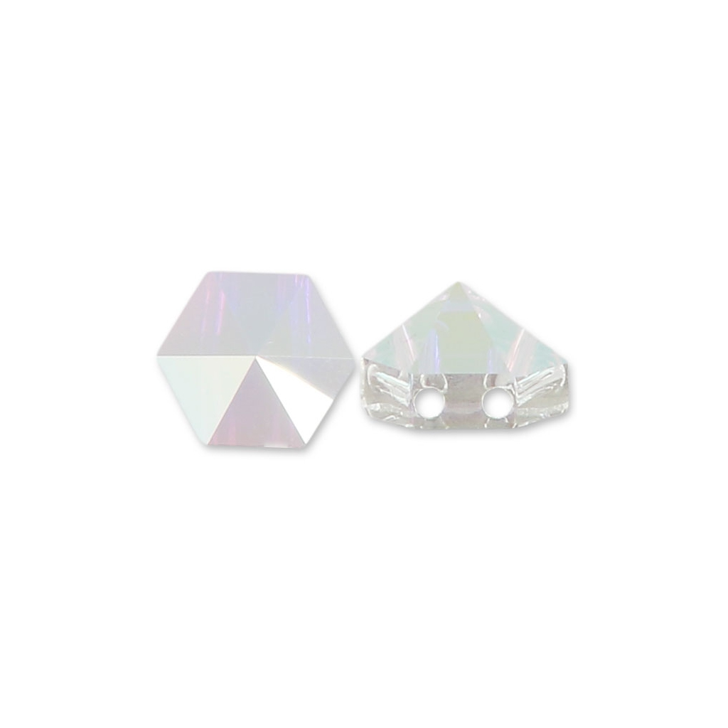 Swarovski Elements, Hexagon Spike Bead, Crystal AB 7.5mm