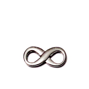 Conector/link otel inoxidabil, infinit, 15x8x1.2mm 1 buc