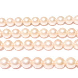 Perle stil Mallorca, roz deschis, 6mm 1 buc