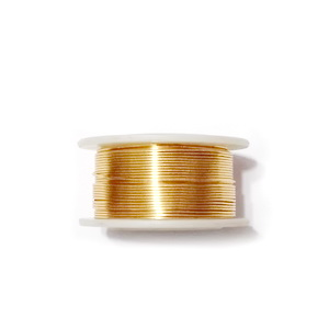 Sarma modelaj NON TARNISH, GILT,  0.6mm, bobina 13.9 metri 1 buc