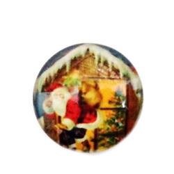 Cabochon sticla ,,Craciun'', 16mm, model 5 1 buc