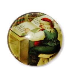 Cabochon sticla ,,Craciun'', 20mm, model 4 1 buc