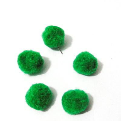 Bilute puf verde, 12mm 10 buc