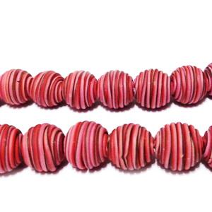 Margele fimo cu liniute multicolore, 11~12mm 1 buc
