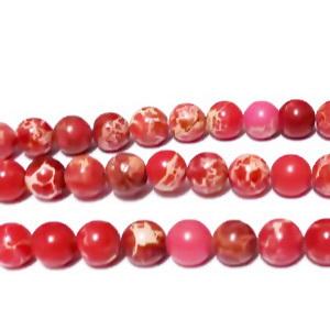 Regalite colorat rosu, 6-6.3mm 1 buc