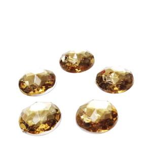 Cabochon plastic auriu, multifete, 12mm 10 buc