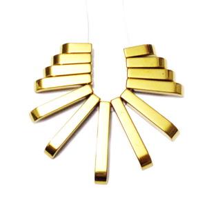 Set 13 buc hematite nemagnetice, placate auriu 1 buc